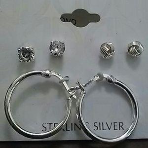 New giani bernini lot of 3 ear ring new never worn